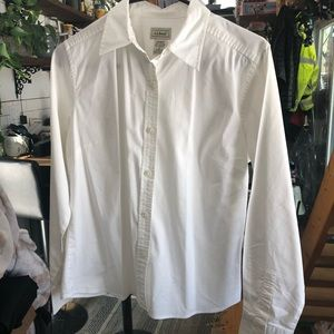 LL Bean White Button Down